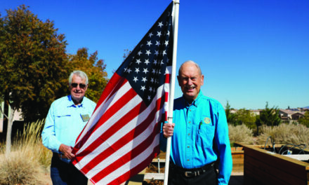 Flag display honors those who served