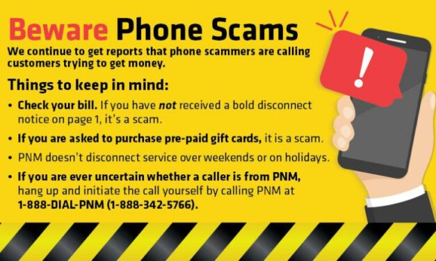 PNM: Phone scammers at it again over Thanksgiving holiday