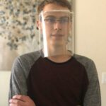 Students 3D-print medical face shields