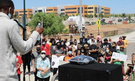 Peaceful protesters call for unity, education to end racism