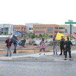 Latest protest sees less aggression