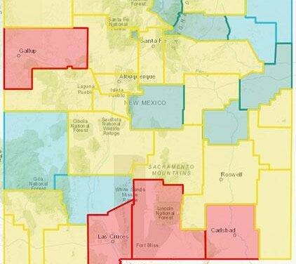 Sandoval County holds at yellow level