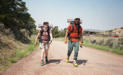Adventurous couple hiking entire Continental Divide trail