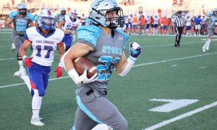 Josh Perry helps Cleveland storm past Las Cruces, 42-7
